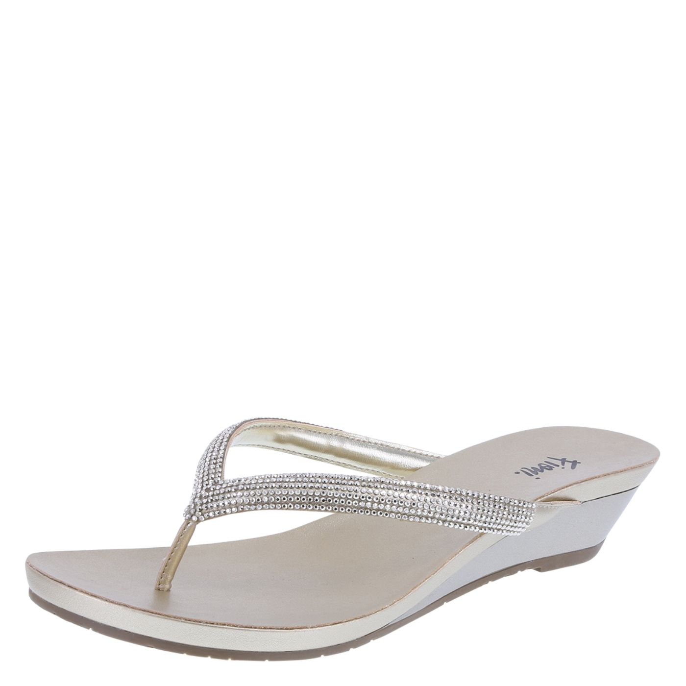 6f1a1e8002 Fancy up your flip flop collection with the Quinn Embellished Wedge from  Fioni! It features a gem-encrusted upper for loads of sparkle, smooth  lining, ...