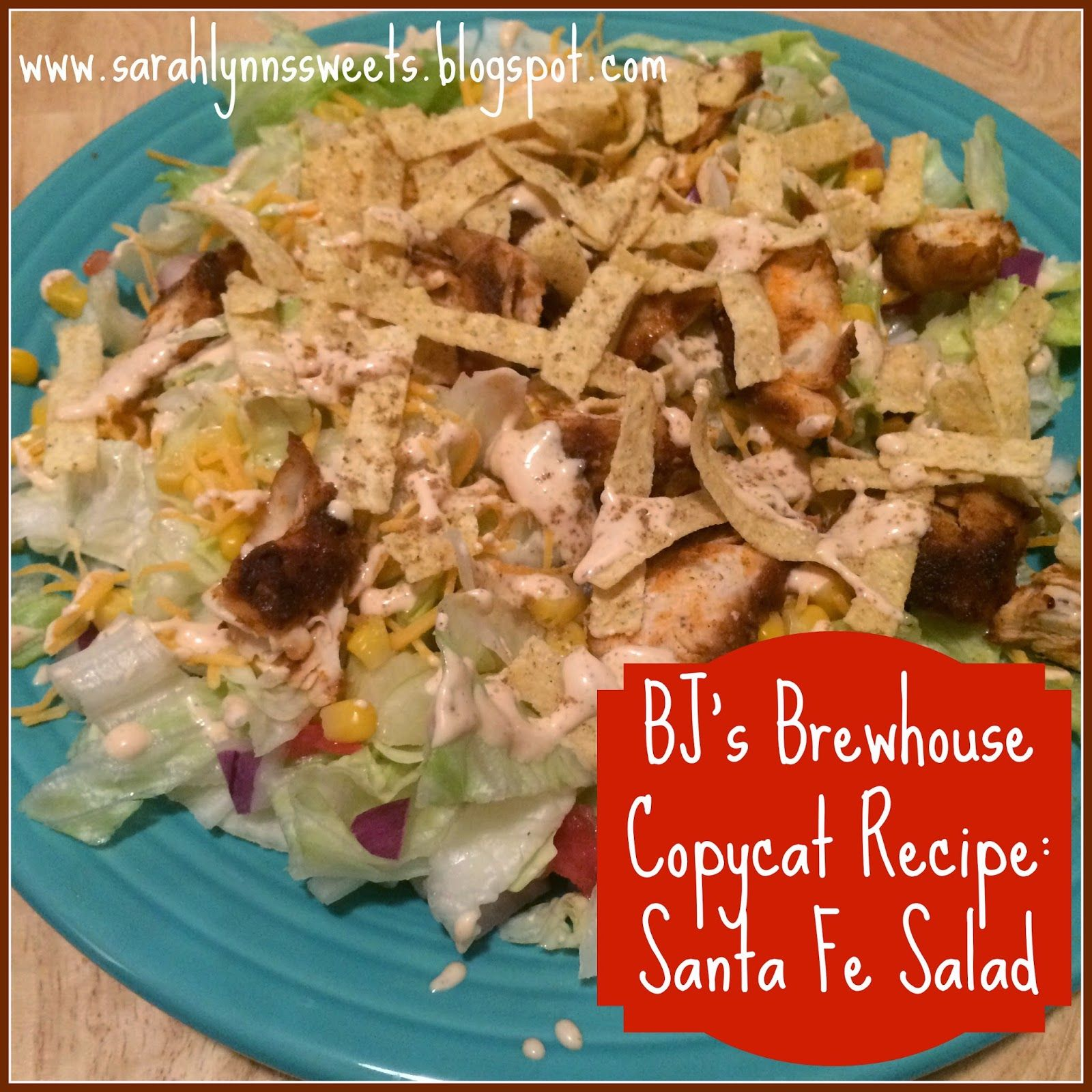BJ\'s Brewhouse Santa Fe Salad Copycat Recipe | Food | Pinterest ...