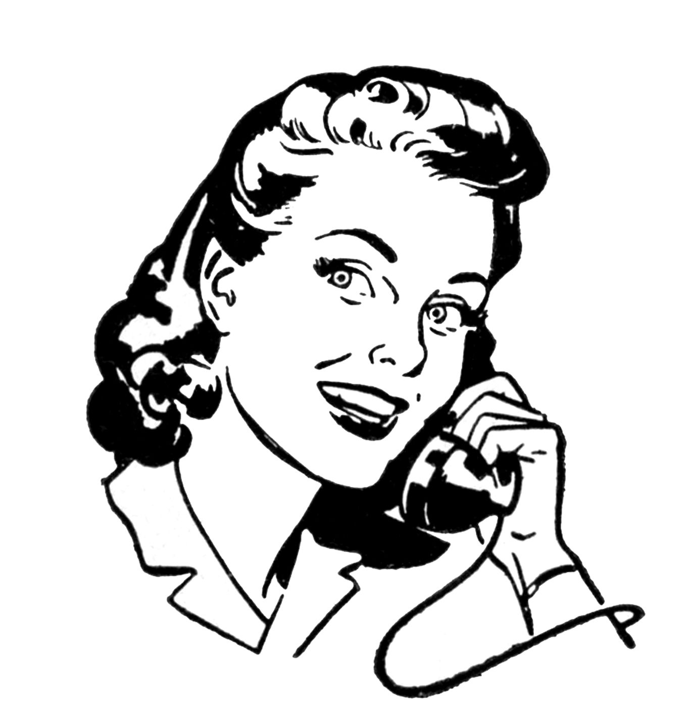 retro pictures people on telephone b w pinterest retro Desk Phone retro pictures people on telephone the graphics fairy