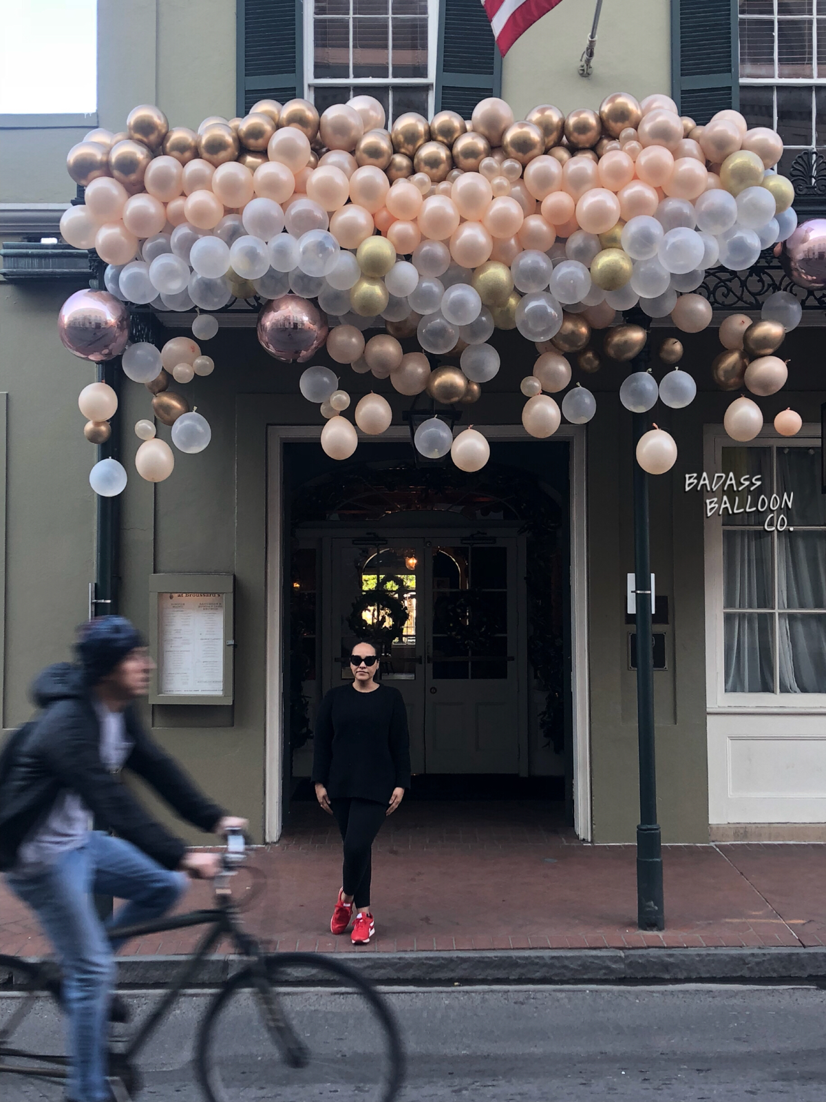 Krewe of Bubbles balloons installation by Badass