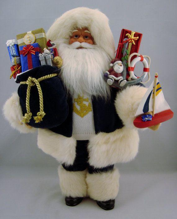 Yacht Club Santa  Santa Claus  19 Tall by DianesHeirloomSantas