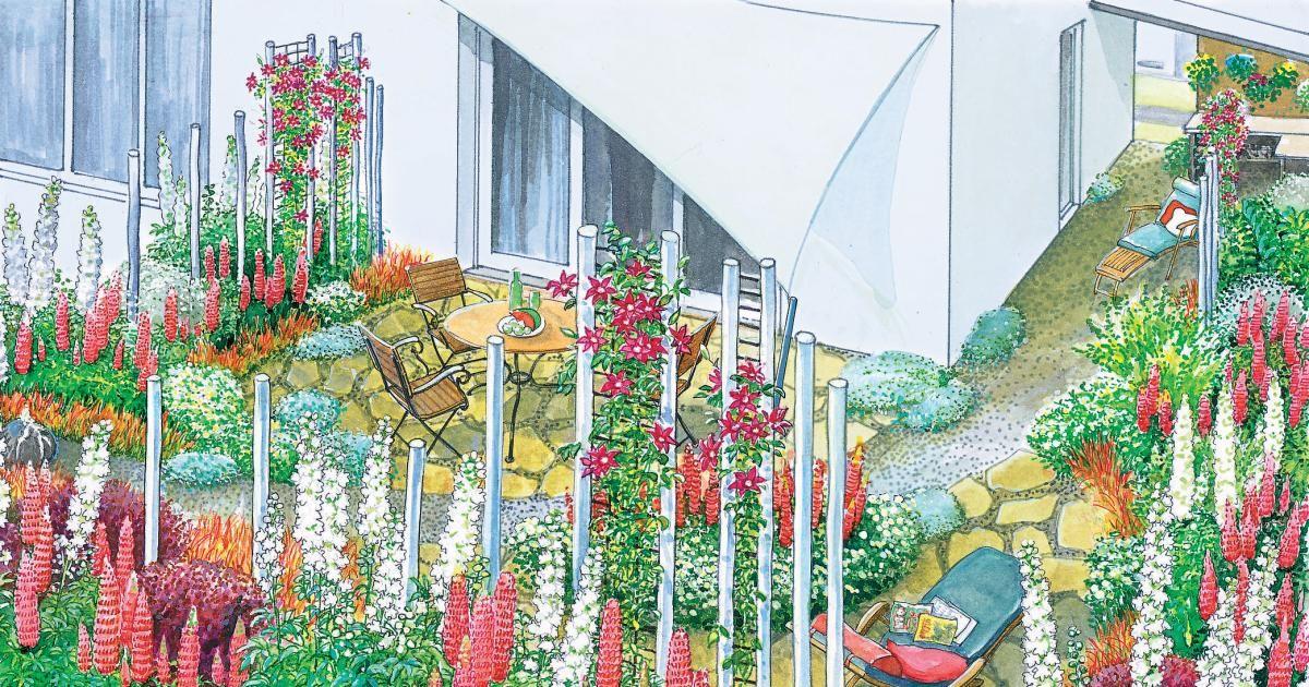1 Garten 2 Ideen Gestaltungsideen Fur Ein Eckgrundstuck Eckgarten Kreative Garten Ideen Garten