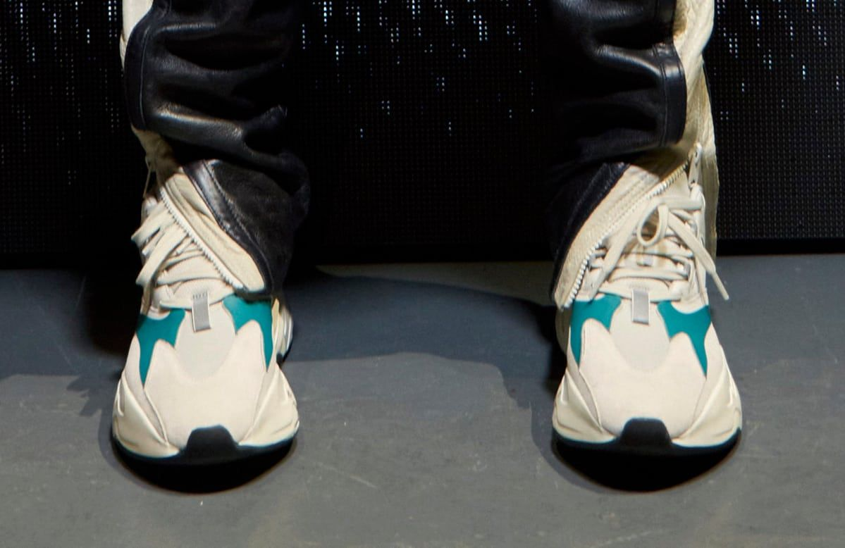 Kanye West Yeezy Runner Triple Black & White/Teal | Sole Collector