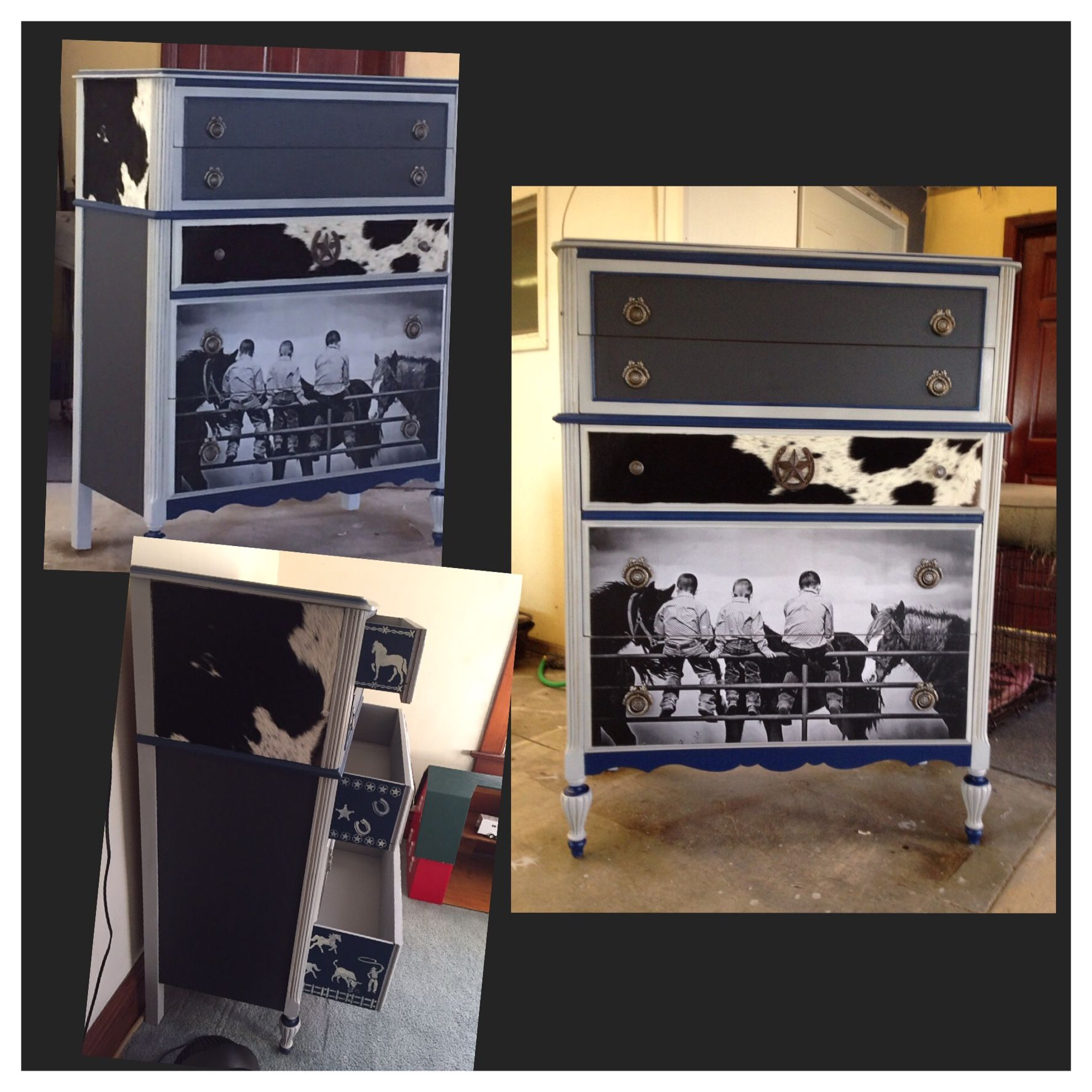 Dresser makeover for cowboy Kinnick.