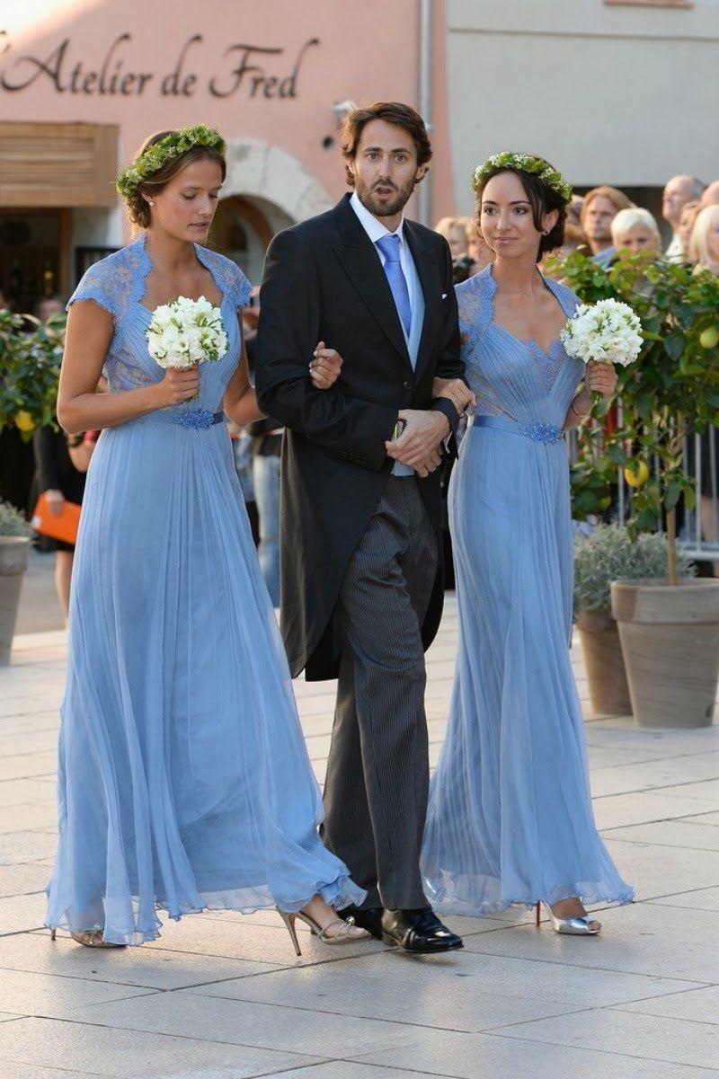 Bridesmaids and attendants at the royal wedding of Prince Felix and ...