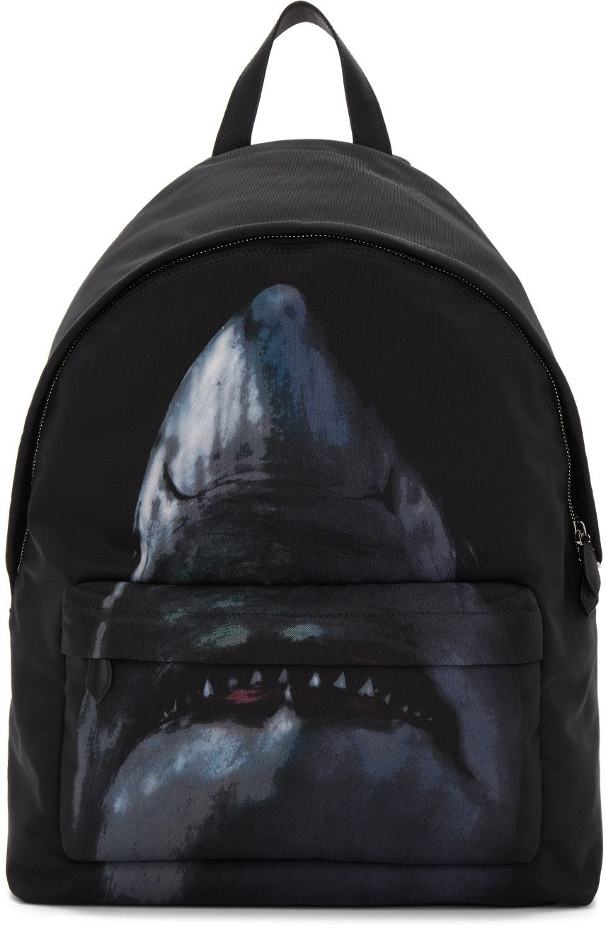 Compare and shop from fashion stores for GIVENCHY Black Urban Shark Backpack . a6c08493db83c
