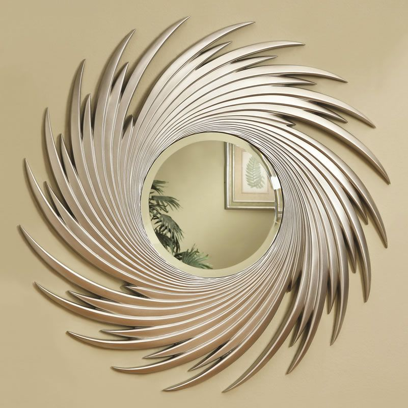 Round mirror, spiral feather design | Mirrors | Pinterest | Spiral ...