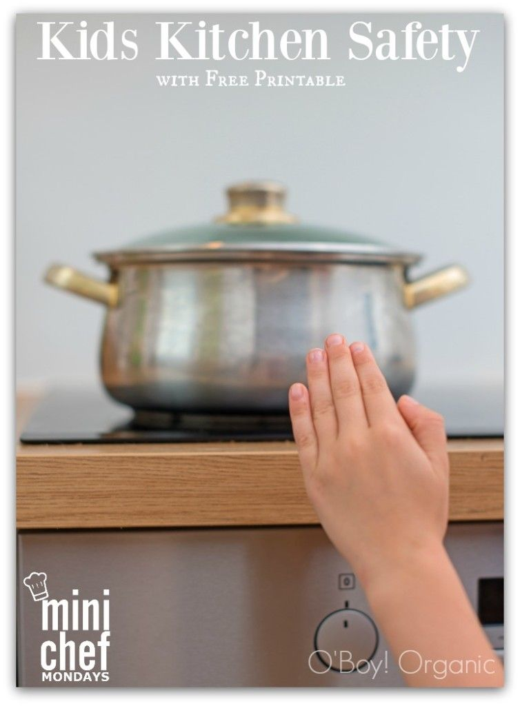 Cooking with Kids: Keeping it Safe with free printable to help parents teach children how to be safe while cooking in the kitchen.
