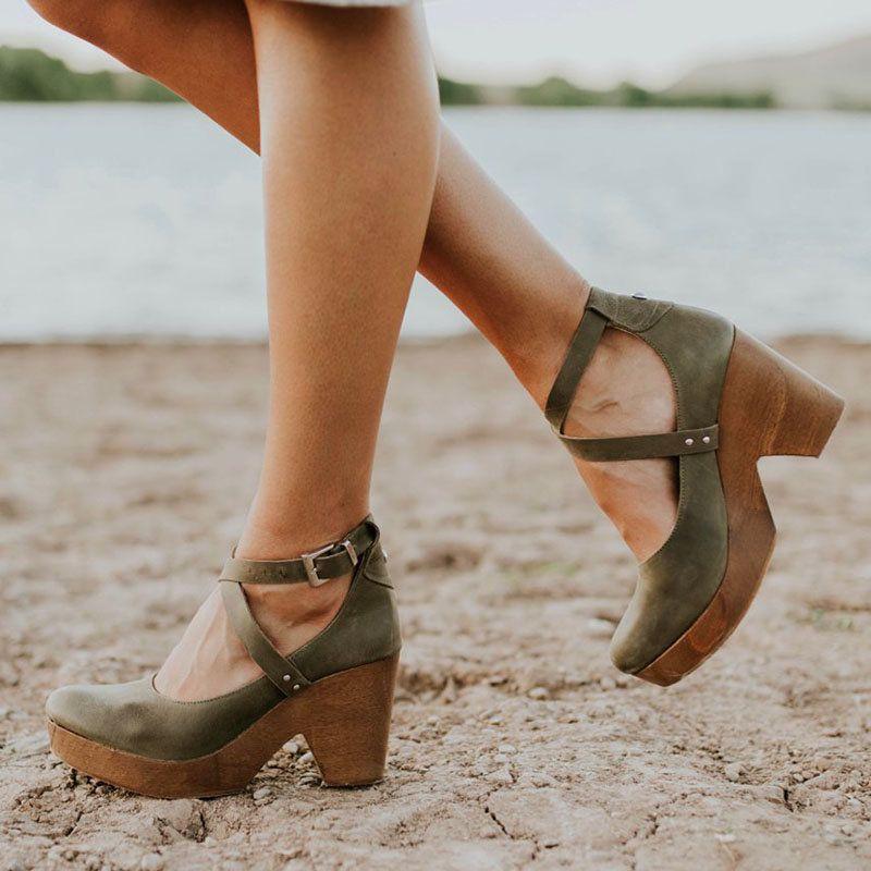 Summer Sandals Women High Heels Black Platform Shoes
