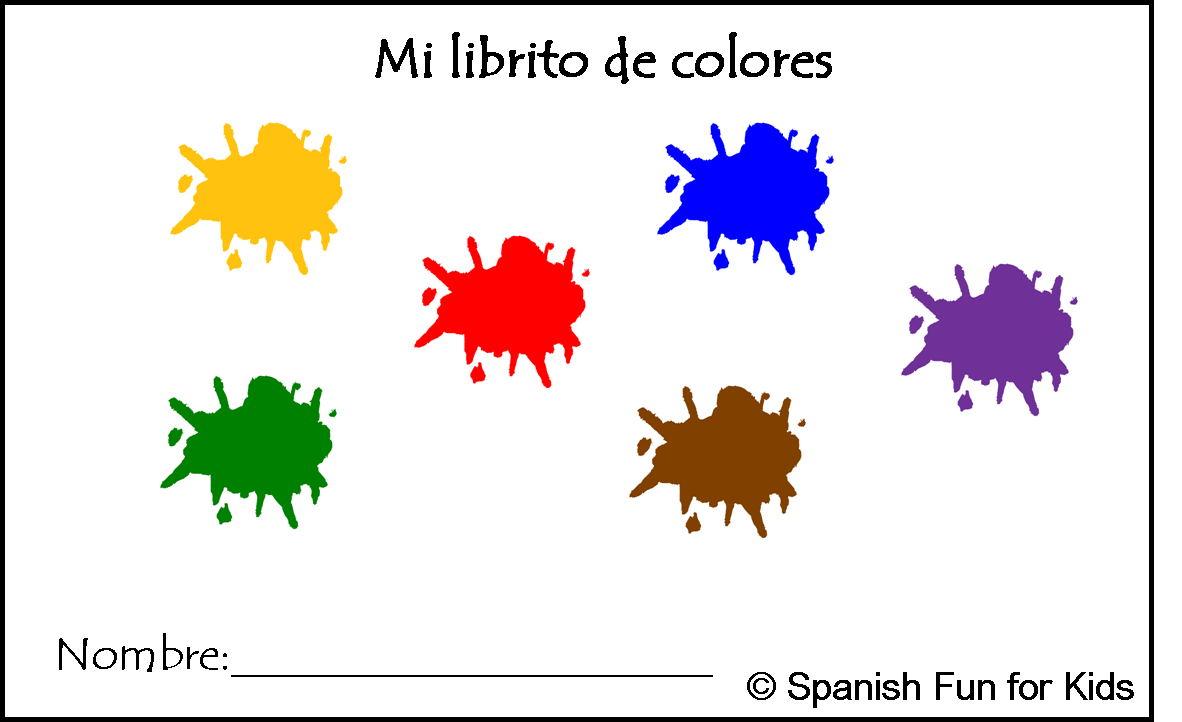 Mi Librito de Colores is a little booklet to be colored by students and assembled with the help of a teacher or parent. This engaging activity helps students learn 11 colors in Spanish. It is also excellent for reinforcement. The eleven colors are: yellow, red, blue, green, orange, purple, pink, white, brown, gray and black.sic and Spanish Fun