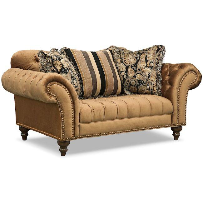 Best Living Room Furniture Brittney Loveseat Bronze In 2019 640 x 480
