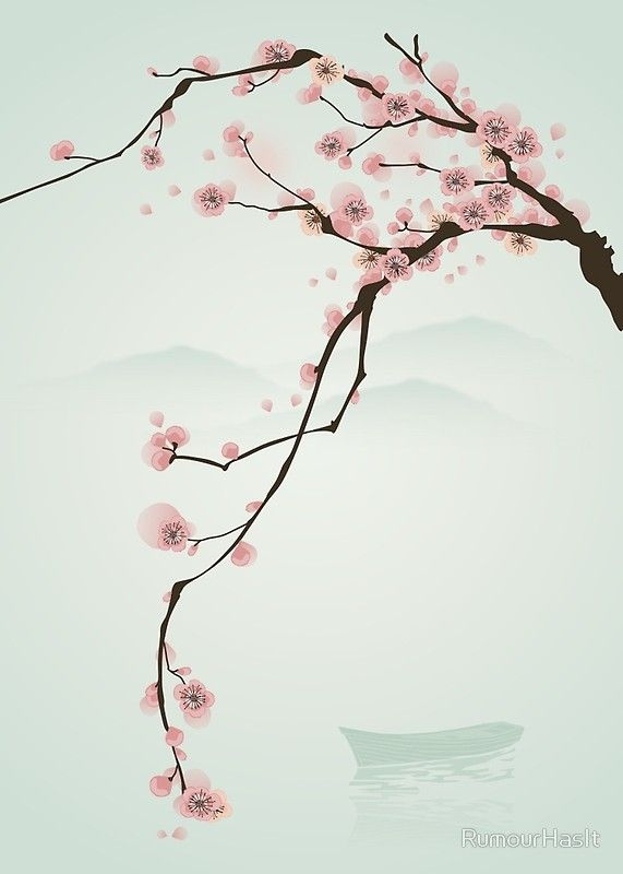 Whimsical Pink Cherry Blossom Tree By Rumourhasit Redbubble Cherry Blossom Art Cherry Blossom Painting Cherry Blossom Wall Art