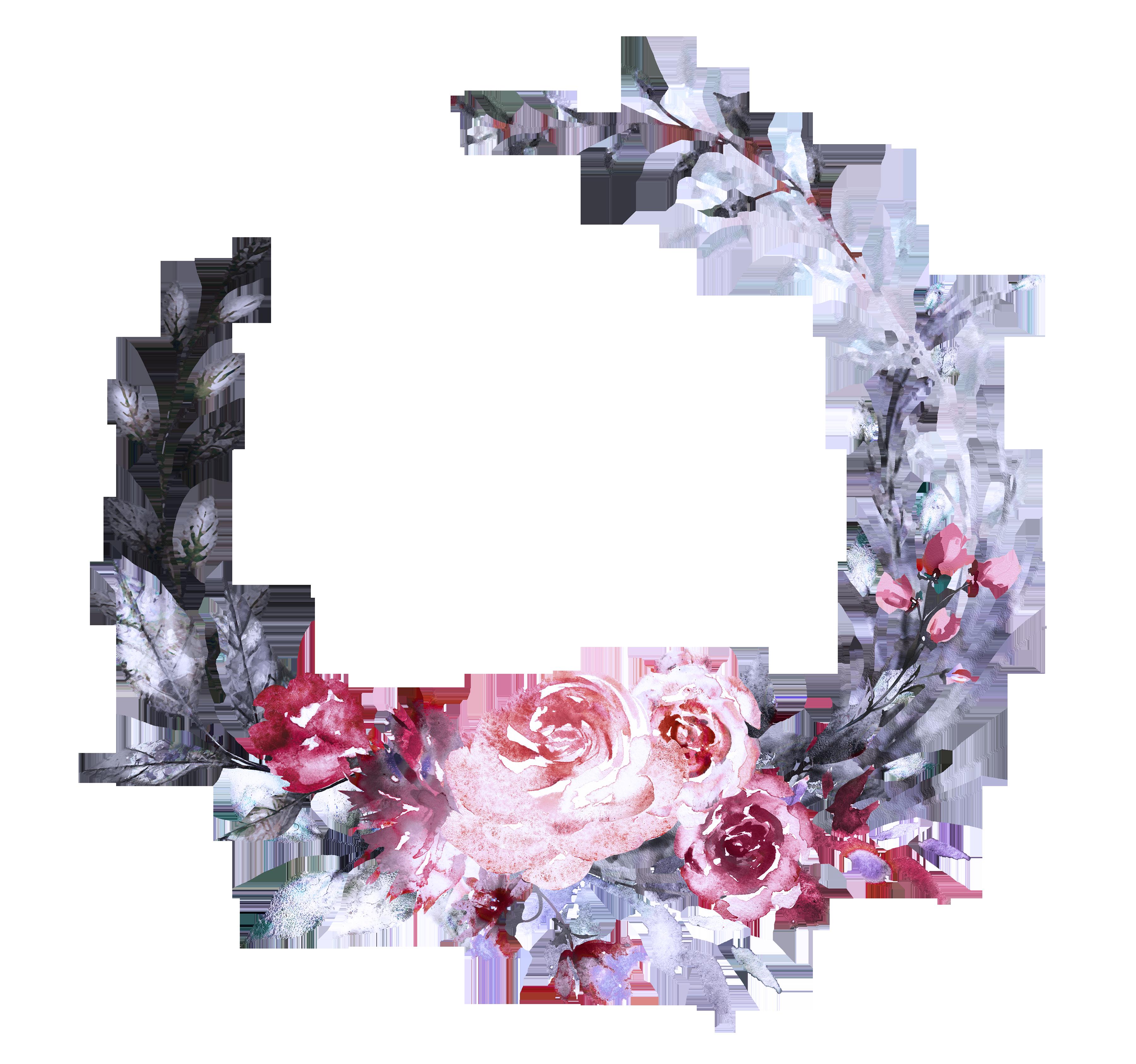 H833 (40) Flower drawing, Flower frame, Flower border