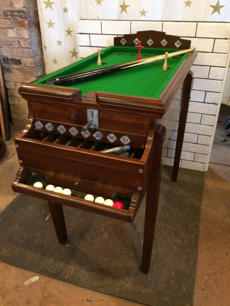 Rare Vintage Bar Billiards Table Browns Antiques Billiards And Interiors Table De Billard Bar Retro Billard