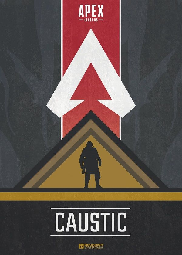 "Apex Legends Character Silhouettes Caustic #Displate explore Pinterest""> #Displate artwork by artist ""Jude Beavis"".… | Displate thumbnail"