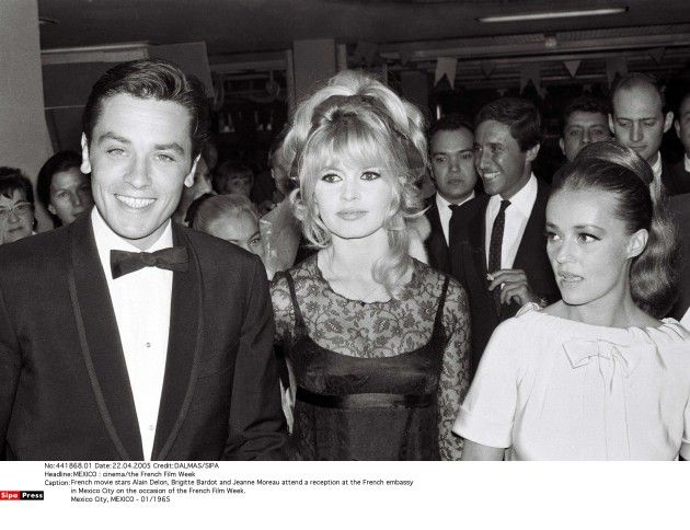 Alain Delon Brigitte Bardot Jeanne Moreau Bardot Brigitte