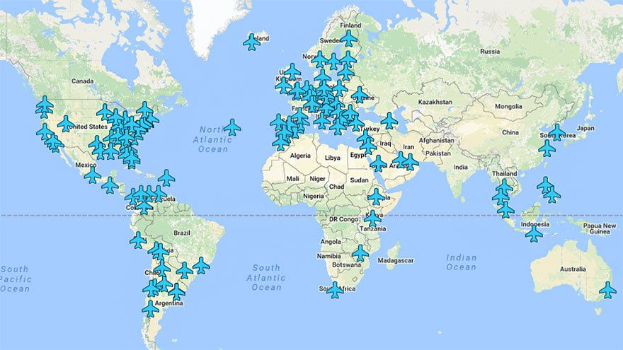 Here is a map highlighting the wi fi passwords of 130 airports here is a map highlighting the wi fi passwords of 130 airports across the world gumiabroncs Gallery