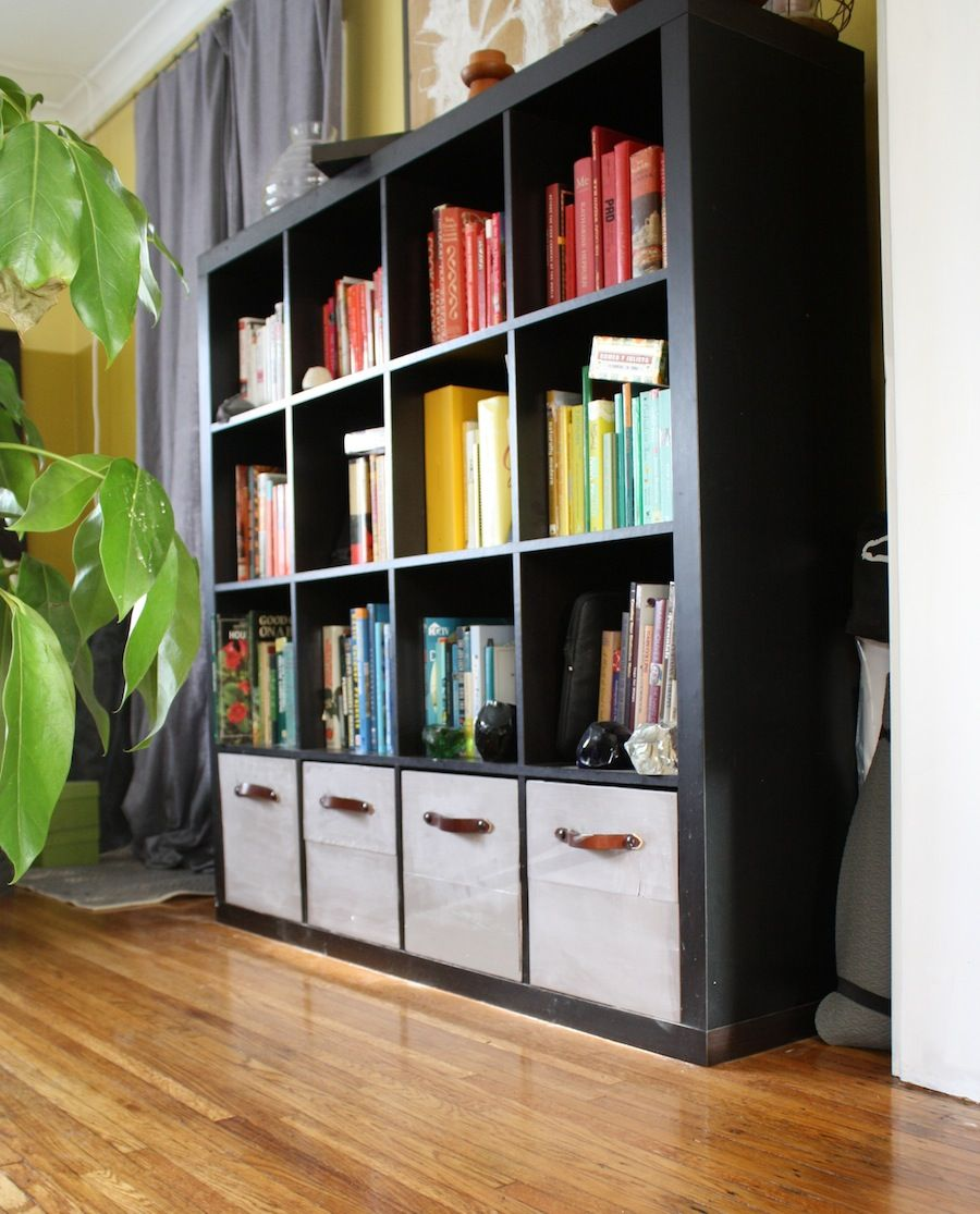 diy ikea expedit drawers voila i kinda really need a lot of shelves for my future library. Black Bedroom Furniture Sets. Home Design Ideas
