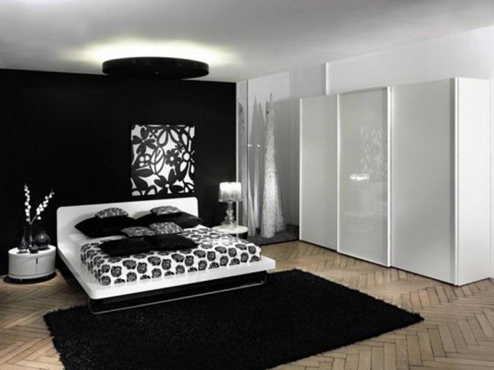 Atemberaubende Schwarz Schlafzimmer Dekor Kreativen Von ...
