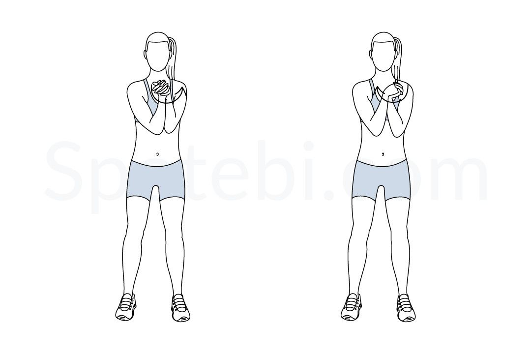 Wrist Circles Illustrated Exercise Guide Workout Guide Exercise Burn Calories