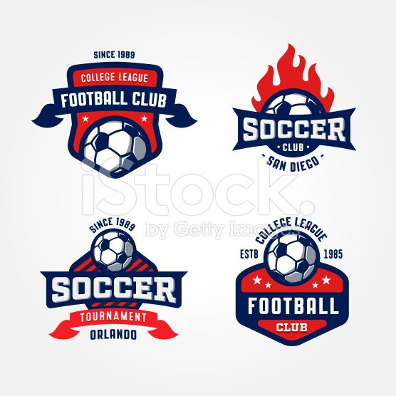 Set Of Soccer Football Badge Design Templates Sports Logo Design Logo Design Template Football Logo Design