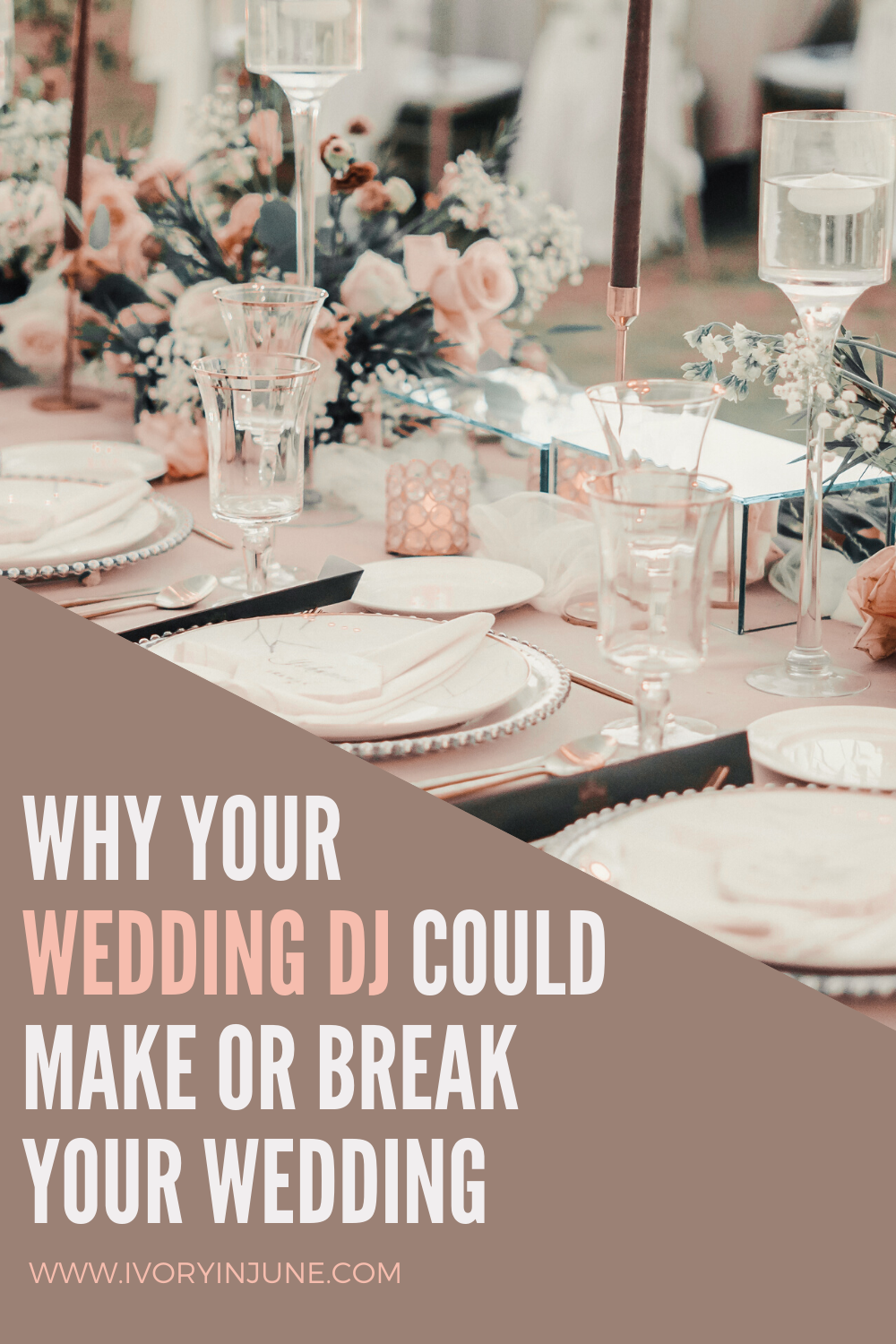 Ever think having a wedding DJ isn't that big of a deal? Well here's why they might be the most important decision you make.  #weddingdj #weddingplanning