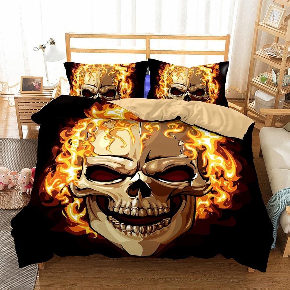 Skull Bettwäsche Onlyway 3pcs Skull Duvet Cover Sets Hopeless