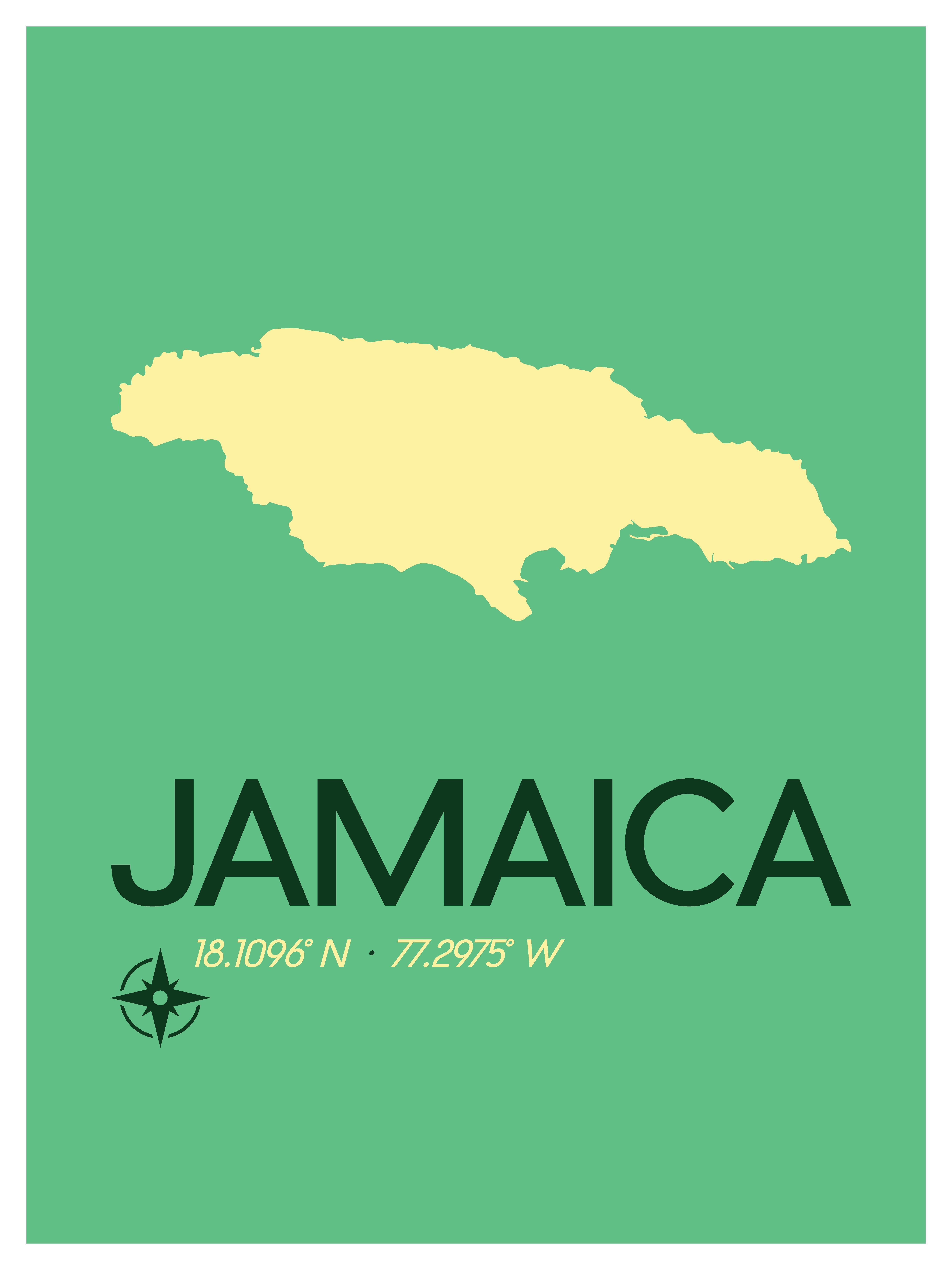Jamaica Map Travel Poster Jamaican Art Print Caribbean Etsy Travel Artwork Jamaica Map Travel Posters