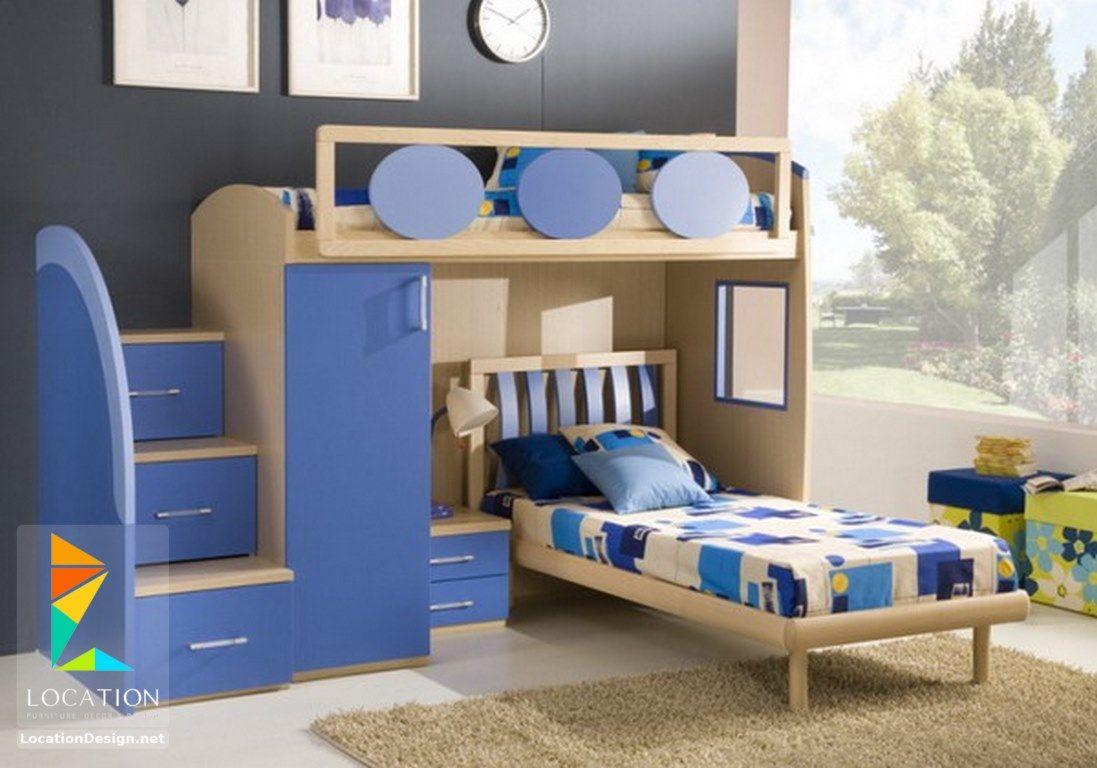 غرف نوم اطفال باللون الأزرق بدهانات مميزة Cool Bunk Beds Bedroom Design Boy Bedroom Design