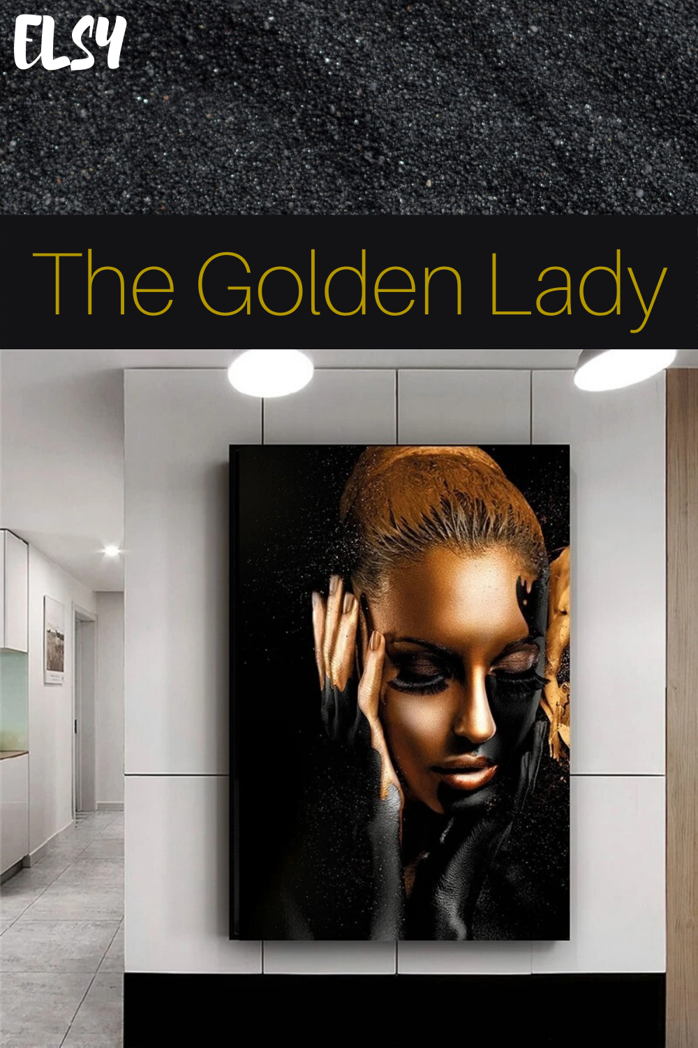 The Golden Lady In 2020 The Golden Lady Inspirational Wall Art