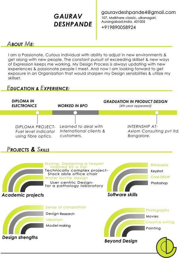 Skill Set Resume Resumegaurav Deshpande Via Behance  Infographic Visual Resumes .