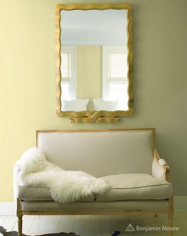 ☆③ HC-2 | ベンジャミンムーア, リビングルームのデザイン, 黄色の壁