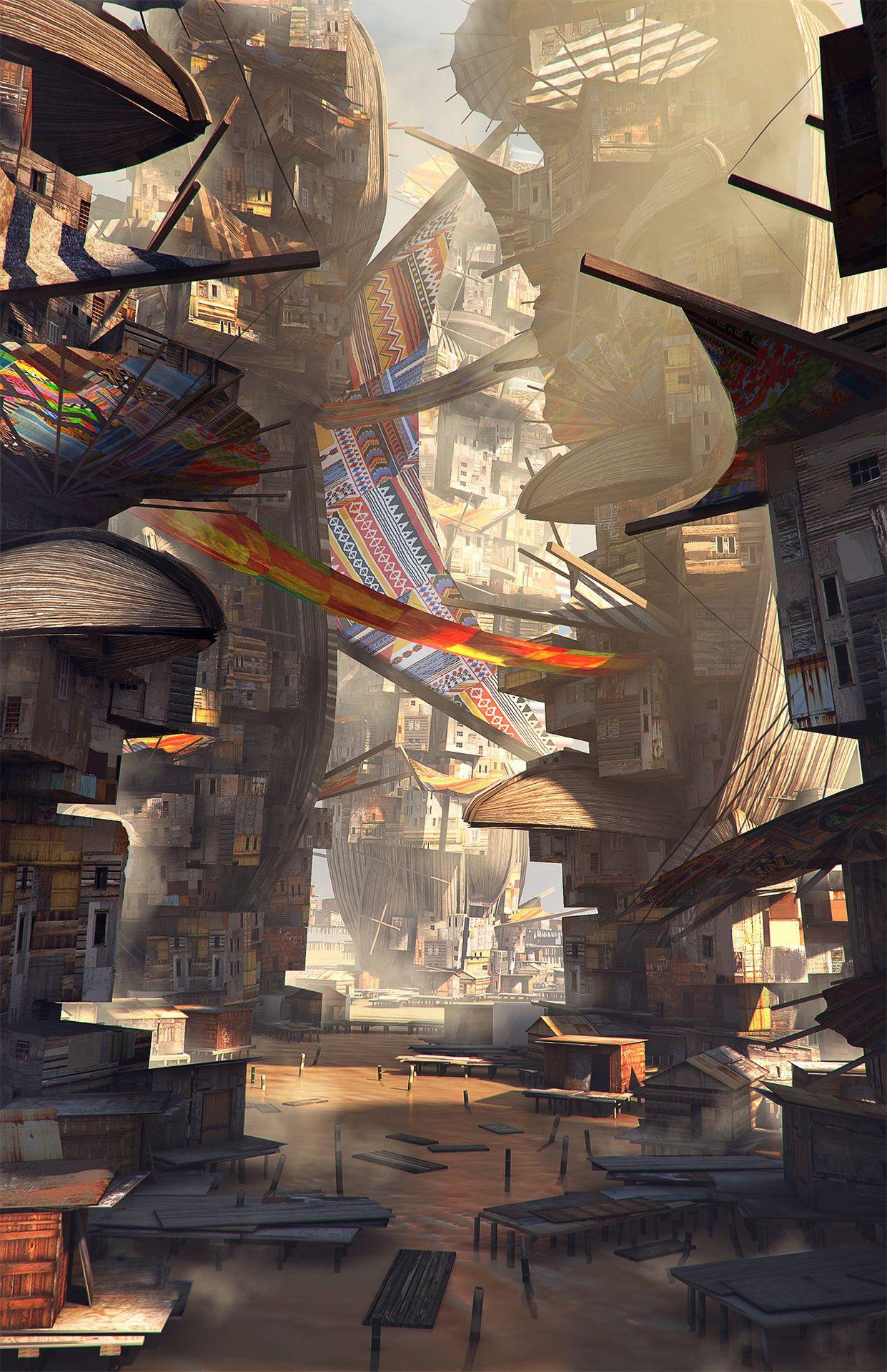 Water slums, Maciej Drabik Scenic art, Environment