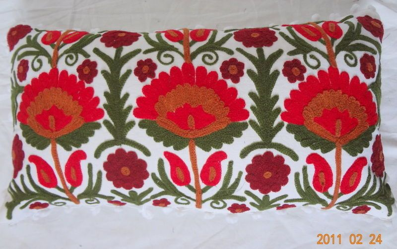 White Colors Suzani Embroidered Work Pillow Cover New Decorative Cushion Covers