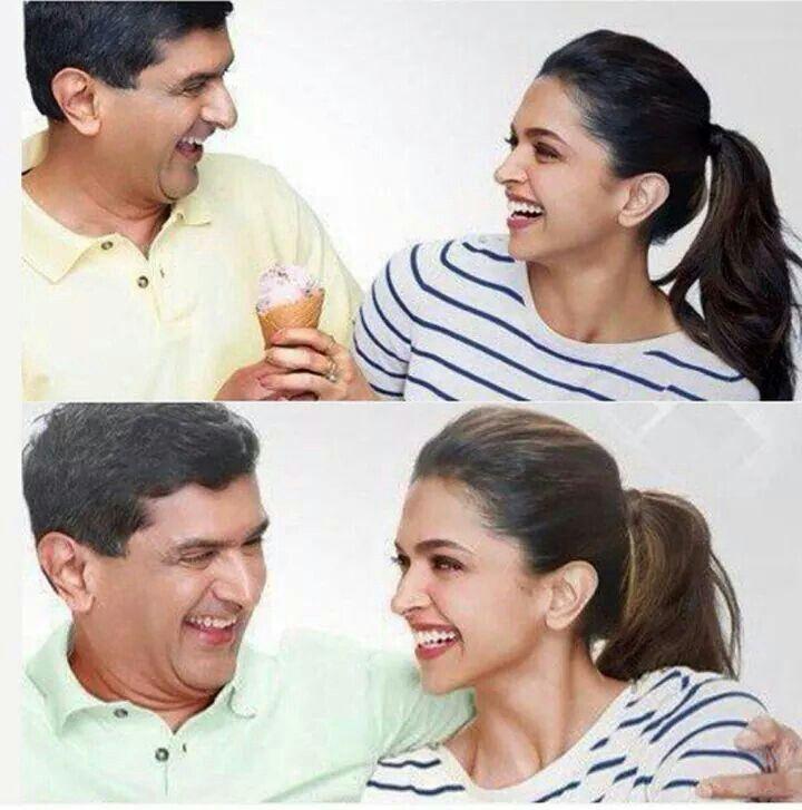Deepika Padukone With Her Dad N Ace Badminton Player Prakash Padukone Celebrity Moms Bollywood Movies Celebrities