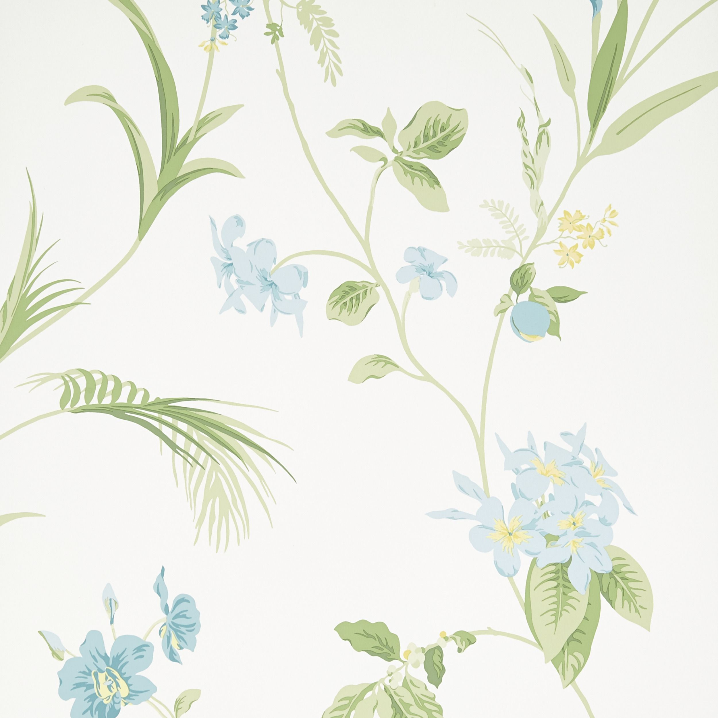 Orchid Apple Green Floral Wallpaper At Laura Ashley Green Floral