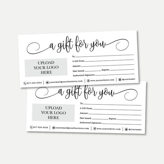 Simple Black And White Script Gift Certificate Template Etsy Gift Certificate Template Free Gift Certificate Template Printable Gift Cards