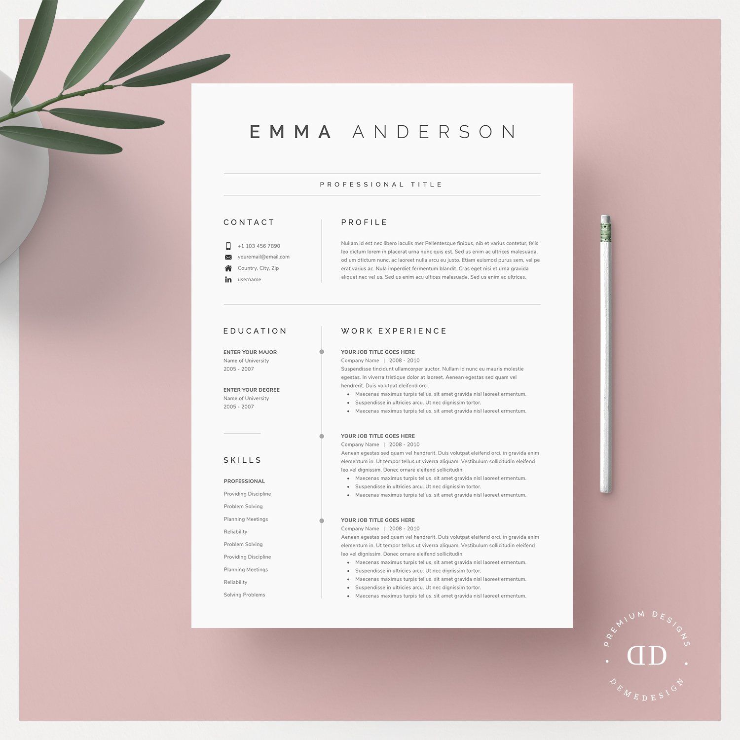 Word Resume Cover Letter Cover Letter Template Cover Letter For Resume Resume Template