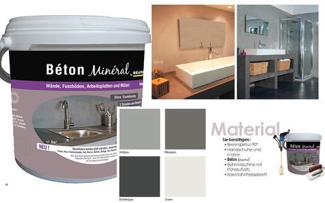 fugenlose designer spachtelmasse beton mineral resinence handwerken pinterest renovierung. Black Bedroom Furniture Sets. Home Design Ideas
