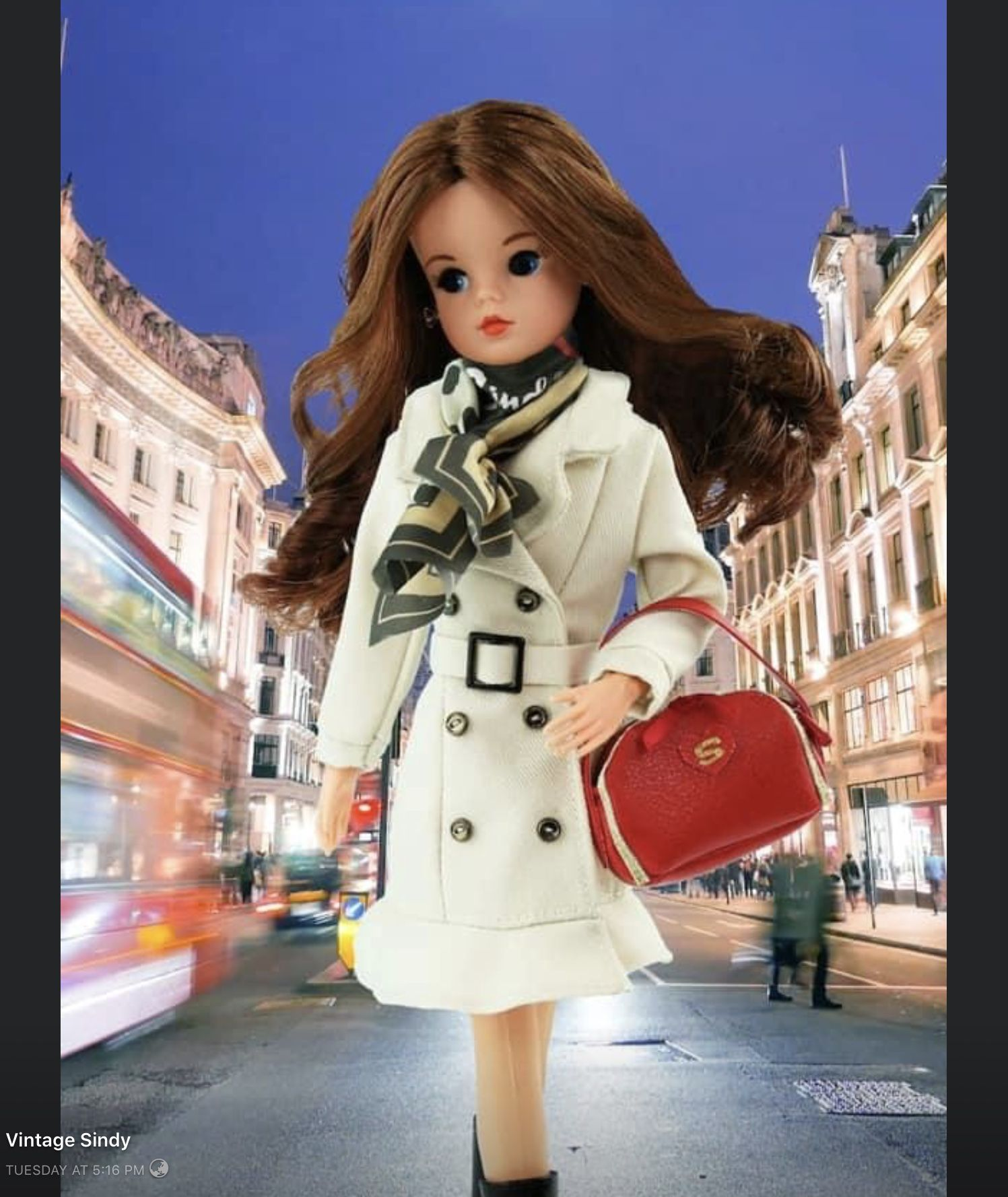 Sindy Doll Miss Sindy Sandali AZZURRA-COME NUOVO