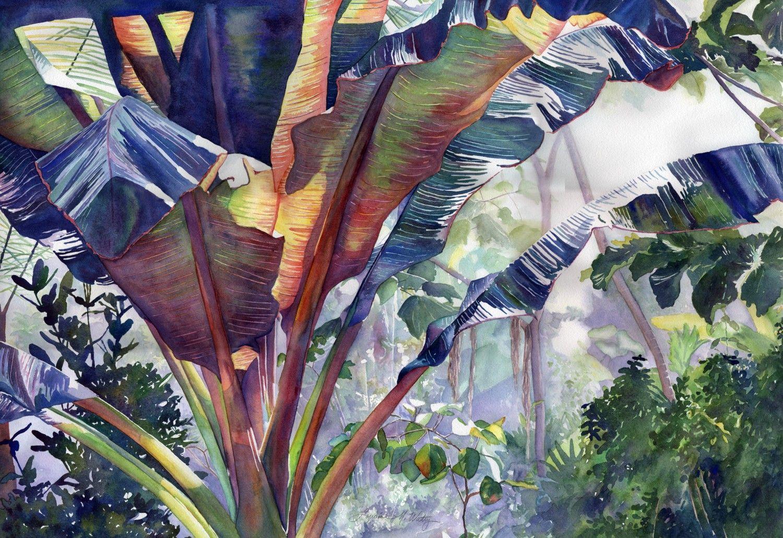 Watercolor Jungle Fever By Lorraine Watry Lorraine Watry