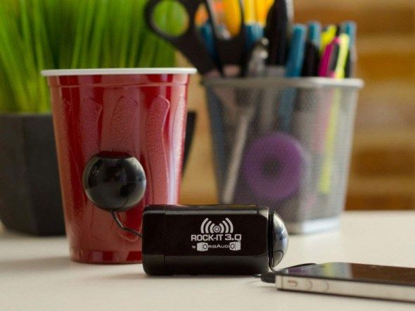 origaudio rock it 3 0 vibration speaker turn anything into a