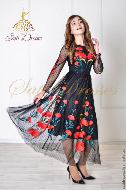 8ad67baa1a0a6fa Платья ручной работы. Ярмарка Мастеров - ручная работа. Купить Платье Маки.  Handmade.