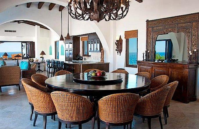 Casa La Laguna Los Cabos Villa Large Round Dining Table 10