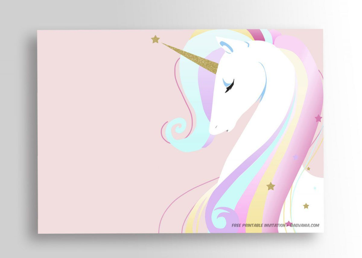 image regarding Free Unicorn Printable identify Absolutely free Printable Unicorn Birthday Invitation Template