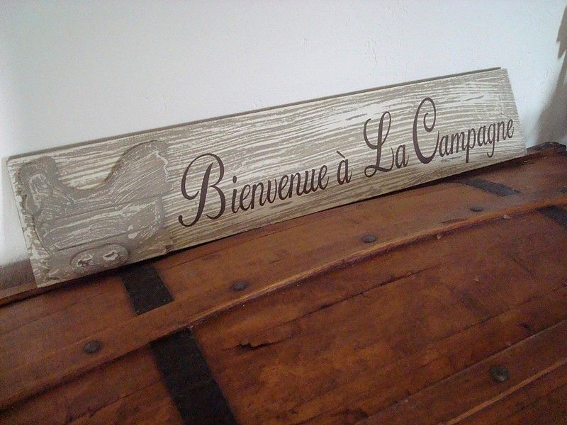 Pancarte bienvenue à la campagne déco campagne