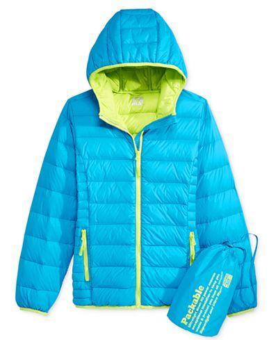 4b2108c17bb2 32 Degrees Girls  Hooded Packable Down Jacket - Coats   Jackets ...