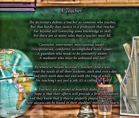 a tribute to teachers A tribute to teachers by mildred keeve who takes us when we're very young, our hopes unborn, our songs unsung like mighty harps with strings unstring the answer is a teacher  who corrects us when we are wrong where we are weak, who makes us strong, who helps us know where we belong.