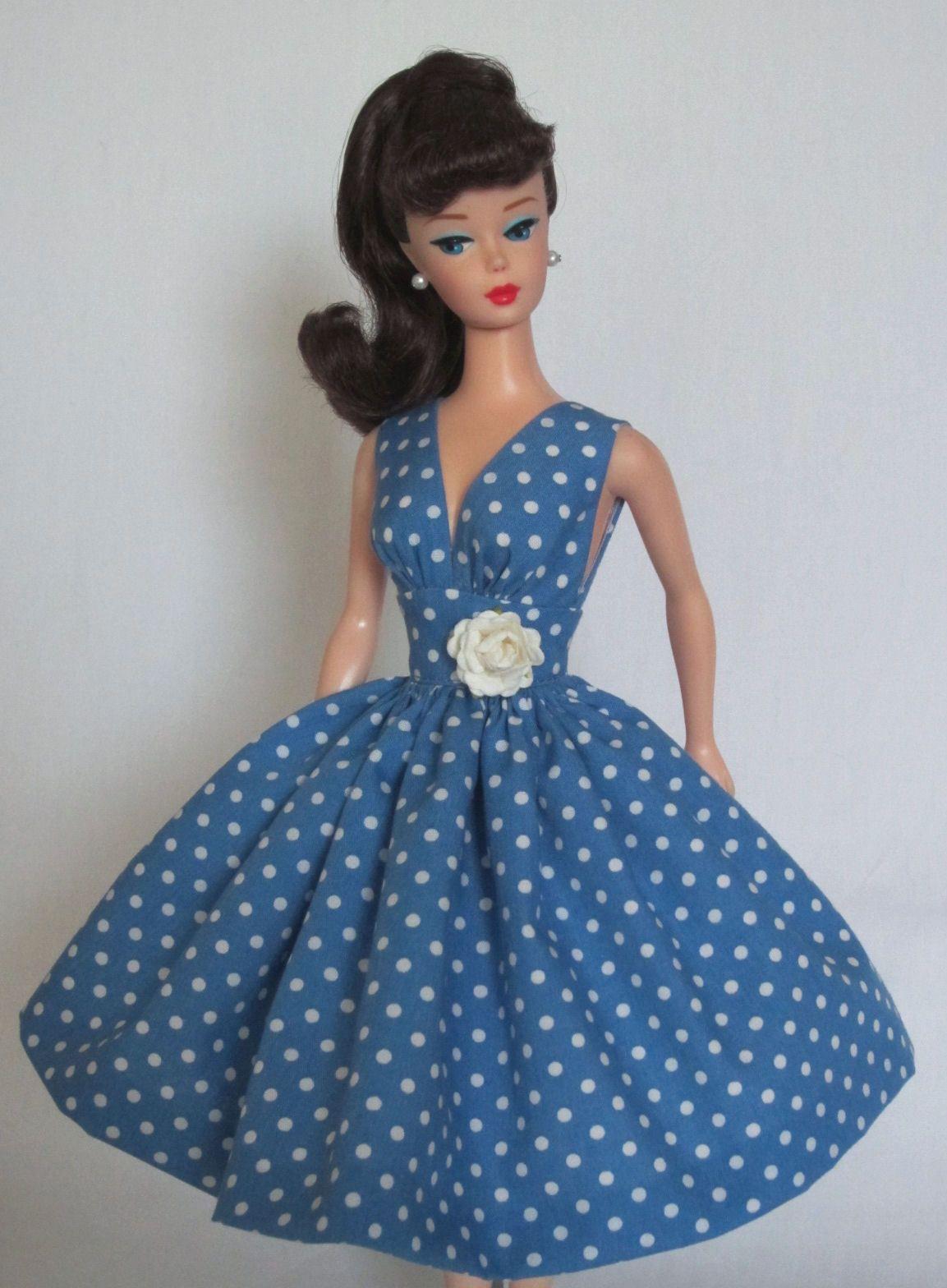Summer Sizzle Vintage Barbie Doll Dress Reproduction Repro Barbie Clothes Doll Dress Vintage Barbie Clothes Barbie Clothes