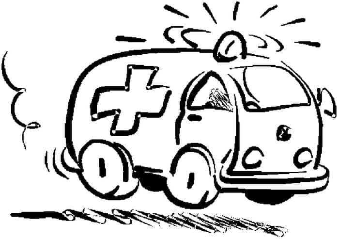 Free Coloring Pages Of Ambulance in 2020 | Monster truck ...